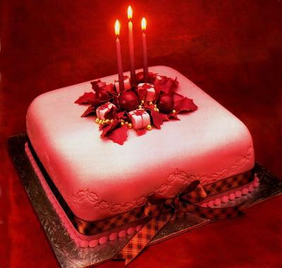 ロマンチックなクリスマスケーキ